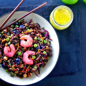 Beet and Wild Rice Salad with Shrimp