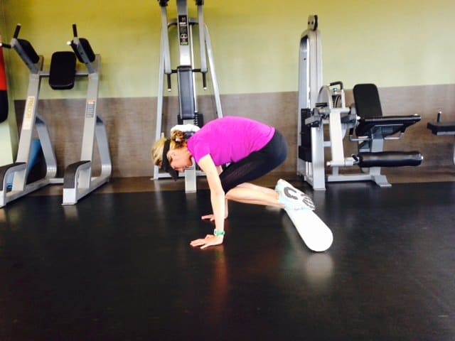 Creative core exercises for balance and strength- Foam roller ab tucks. Add push ups for an advanced fitness move.