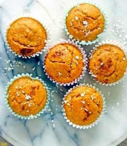 Naturally Sweetened Orange Coconut Oat Muffins