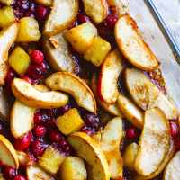 Easy Spiced Hot Fruit Bake {Gluten Free}