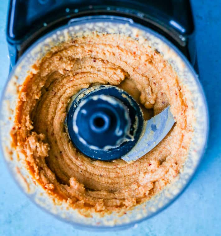 homemade small batch raw cashew butter with chili pepper -(vegan-paleo). Great with satay and stir fry