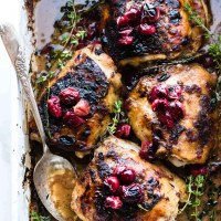 Cranberry Balsamic Roasted Chicken {Paleo} + VIDEO