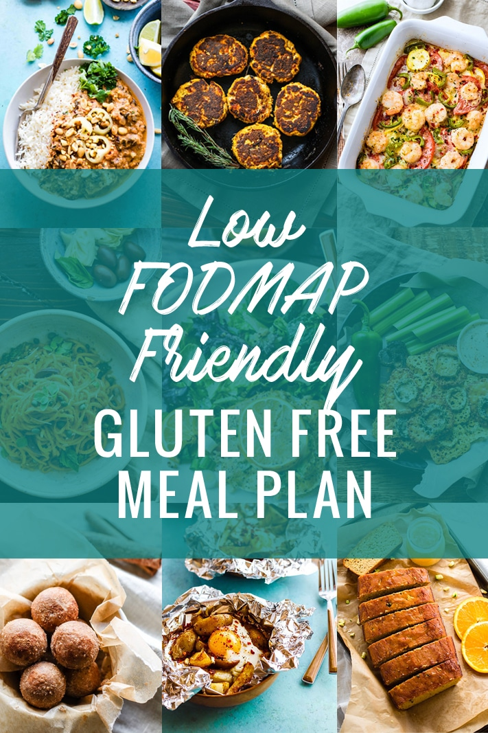 This Low FODMAP friendly Gluten Free Meal Plan is a great tool to help you resolve those pesky digestive issues. Learn what FODMAPS are, what foods they come from, and recipes for those who might be FODMAP sensitive. A great tool to help you resolve those unwanted digestive issues.