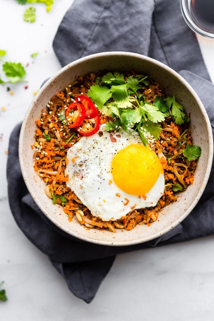 Carrot Rice Breakfast Nasi Goreng {Paleo Friendly}