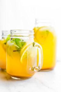 Zingy Turmeric Ginger Lemonade with Mint