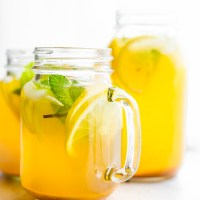 Zingy Turmeric Ginger Lemonade with Mint