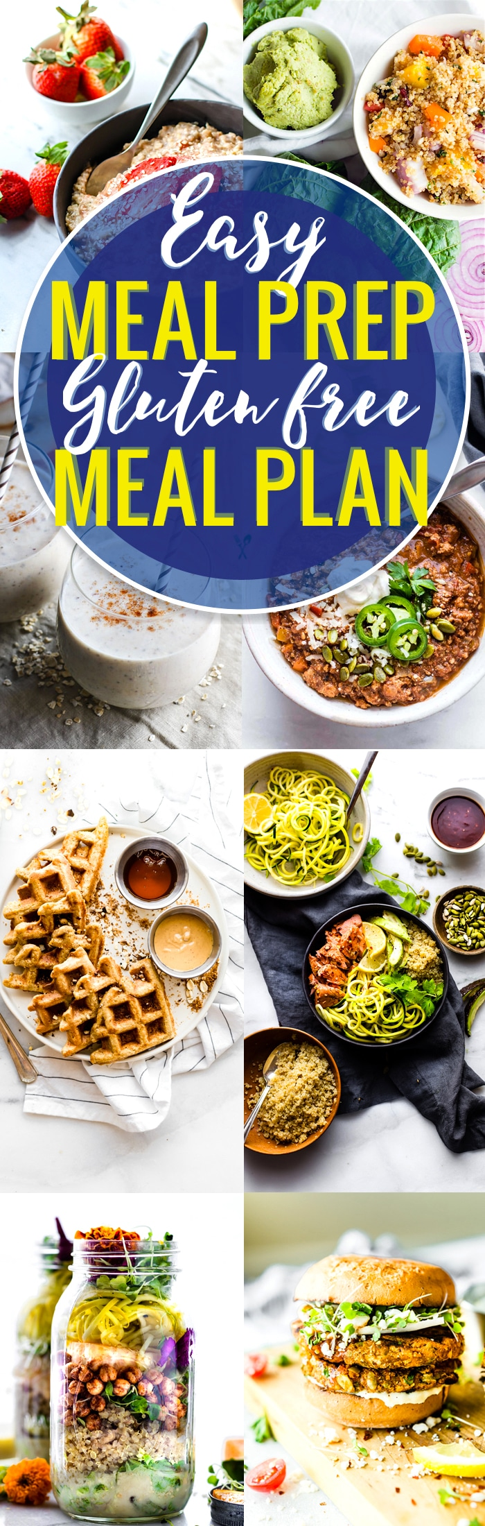 These easy meal prep recipes are perfect for a gluten free meal plan. By prepping ahead, you can prepare healthy gluten-free meals easily, without a hassle! Use these healthy and easy meal prep recipes to have breakfast, lunch, dinner, and snacks or desserts ready to go when you are! www.cottercrunch.com