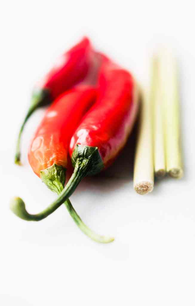 Thai peppers and lemon grass