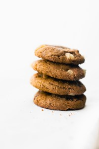 Flourless Candied Ginger Molasses Cookies