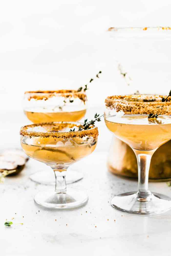 Celebrate the season with these Honey Roasted Pear Sparkling Cocktails and Mocktails!The easiest festive cocktailsmade withsparklingwine, champagne, or grapefruit juice, then blended with a honey roasted pear puree, honey, cinnamon and nutmeg, and a touch of vanilla! Simple, light, delicious.