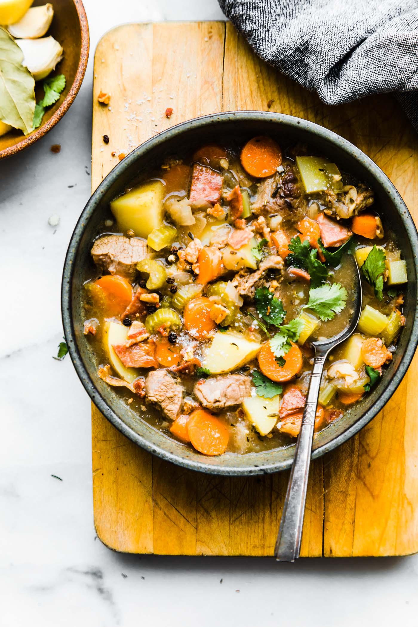 Bacon Braised Lamb Stew Bowl (paleo)