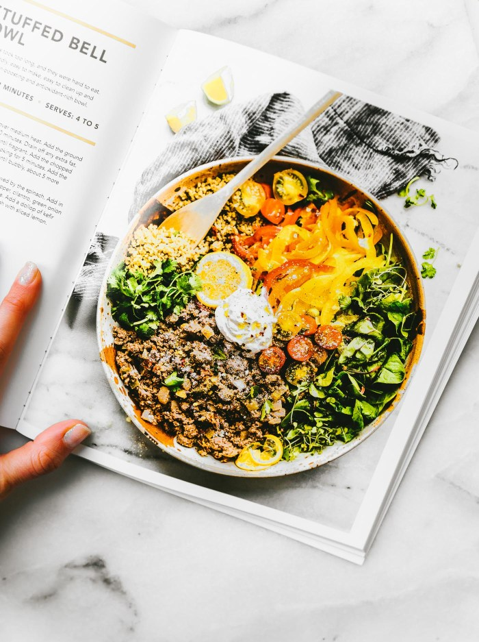 Deconstructed Stuffed Bell Pepper Bowl recipe picture from nourishing superfood bowls cookbook