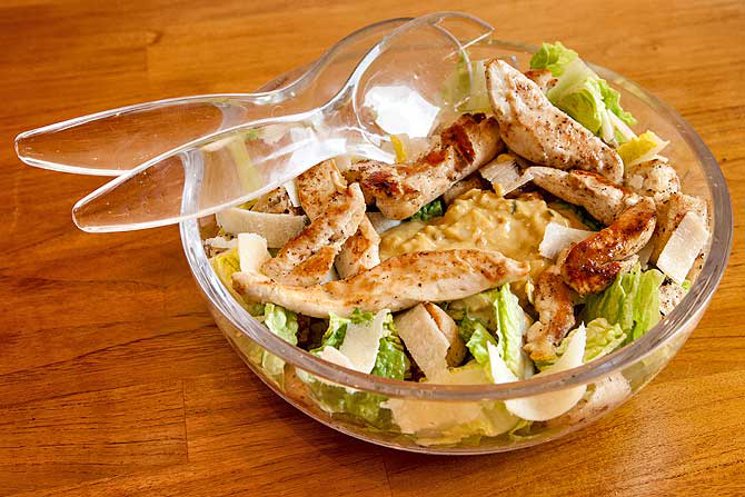 Salade caesar - Photo prise ici