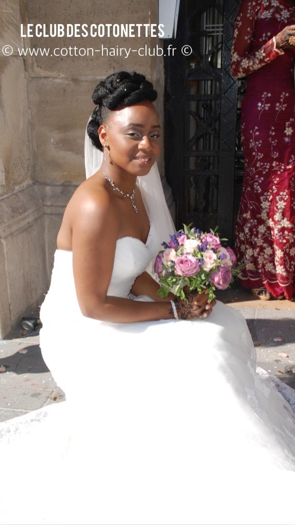 la mariée était naturelle coiffure mariée