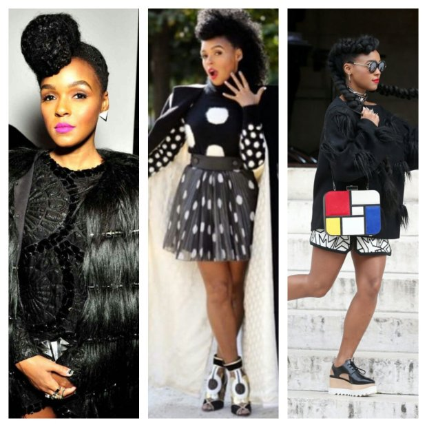 janelle monae coiffures hairstyle at paris fashion week