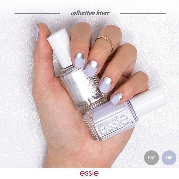 Virgin Snow + Après Chic : on eut utiliser des oeillets pour obtenir ce nail art.