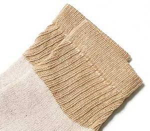 brown organic short crew socks