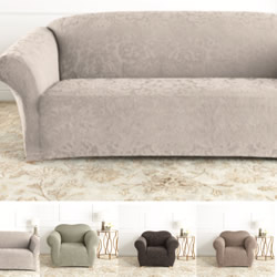sure fit logan sofa slipcover corner bed gumtree nottingham slipcovers chair covers surefit cottonbox by from 29 95 damask jacquard
