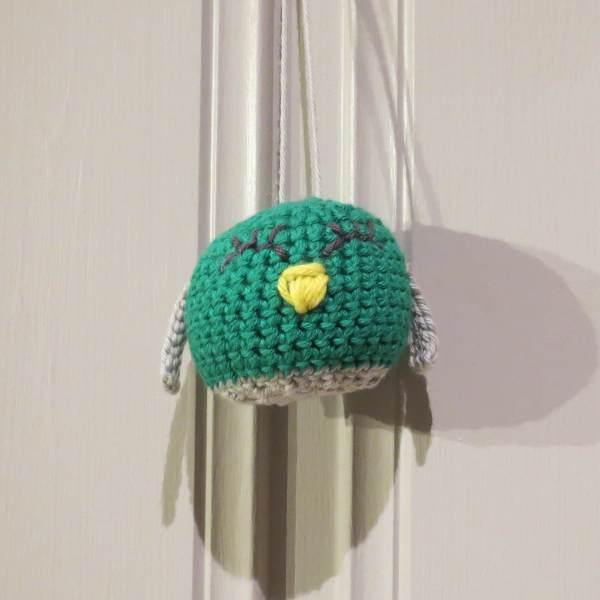 Julekule: Lille fuglen - Grønn