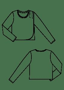 Jersey topp teknisk tegning