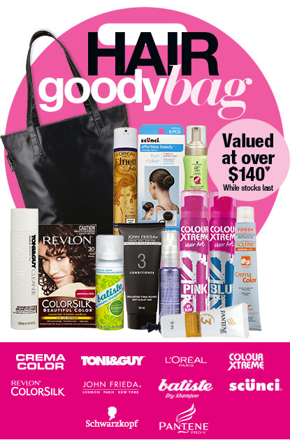 Priceline hair goody bag 2014