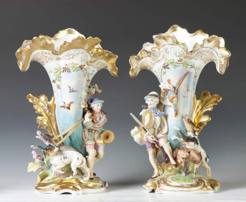 Image result for old paris porcelain spill vases