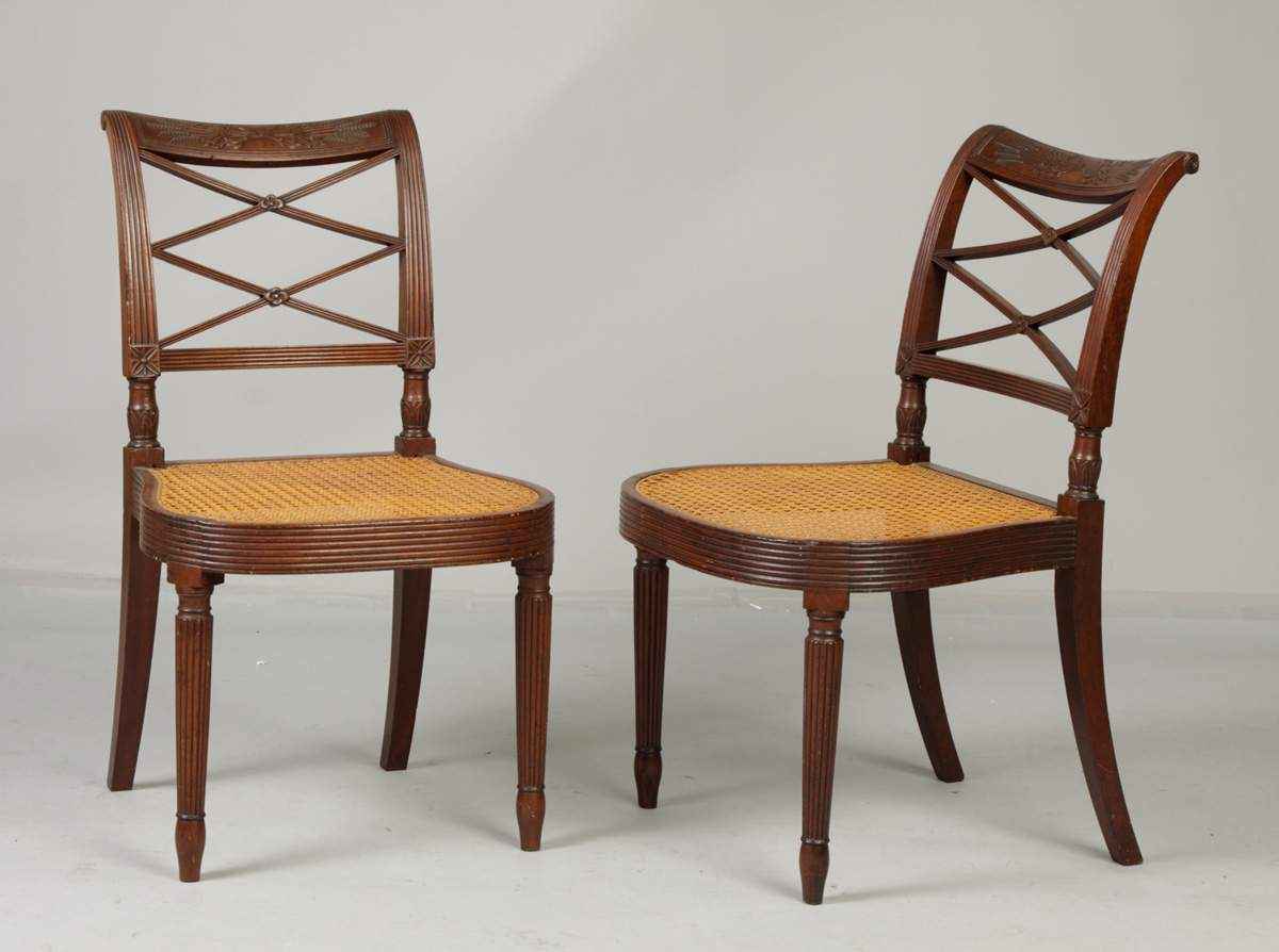duncan phyfe chairs stool chair perth two period ny cottone auctions
