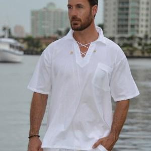 Kauai - Bead Drawstring Short Sleeve Shirt