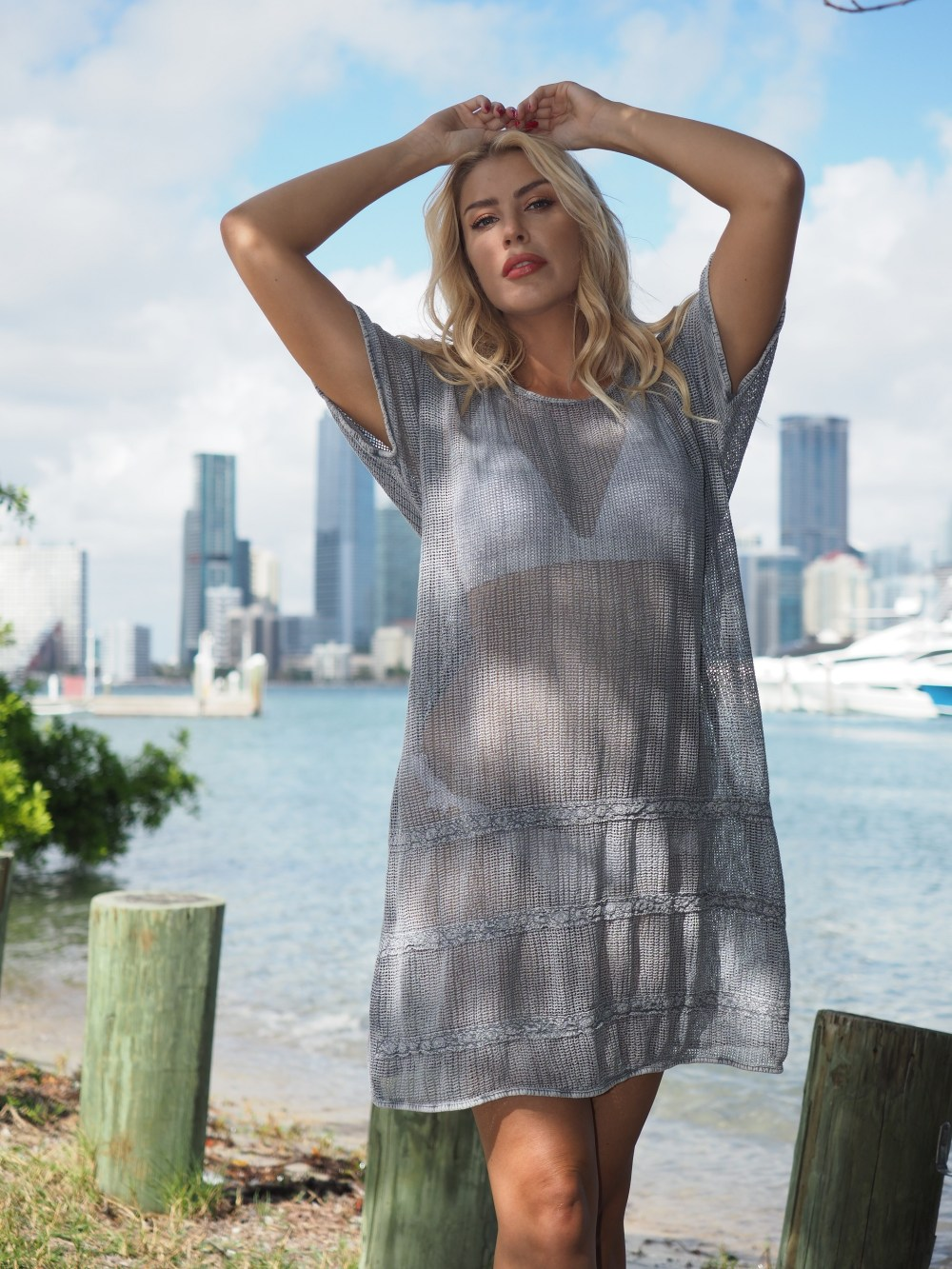 Yam Fossil Gray Cover-Up
