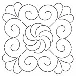 Quilting stencils for outlining quilting designs, UK