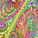 Kaffe Fassett Fabric Paisley Jungle Green (per 1/4 metre)