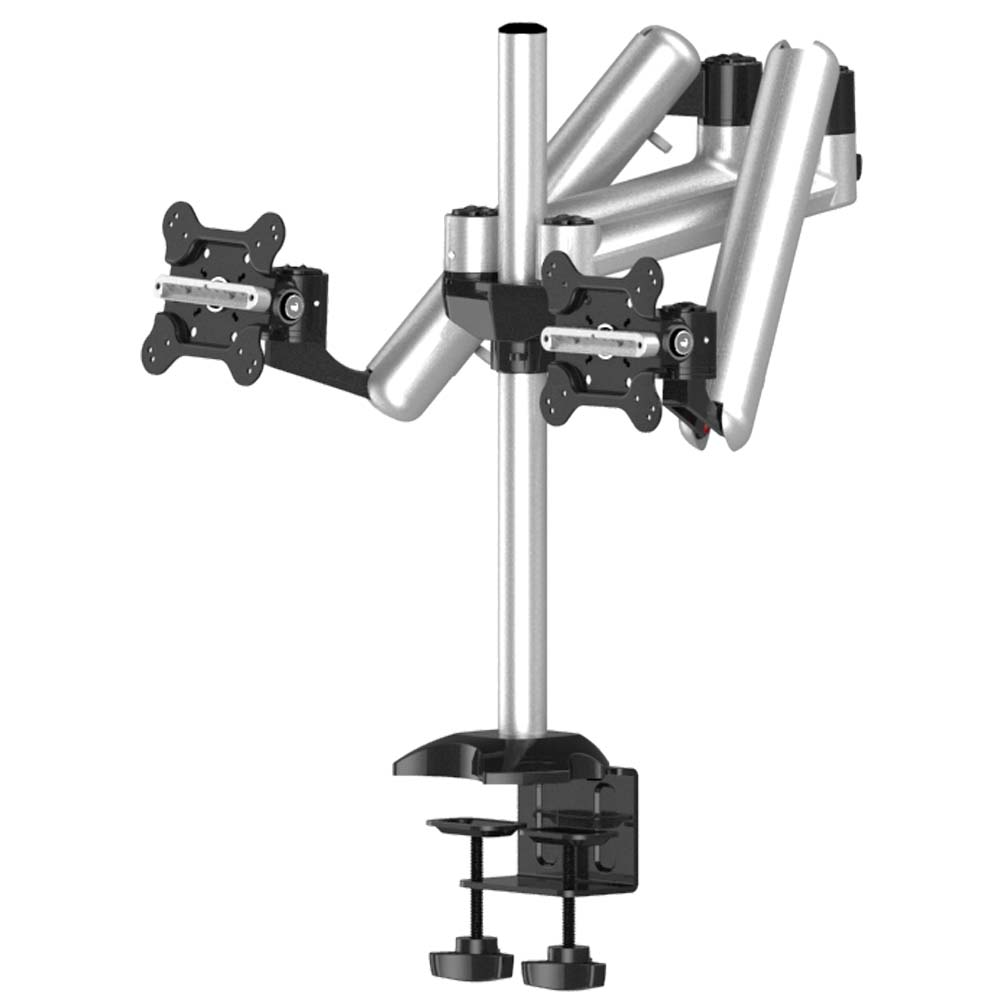 Dual Monitor Desk Mount for Apple w/ Full Motion & Quick