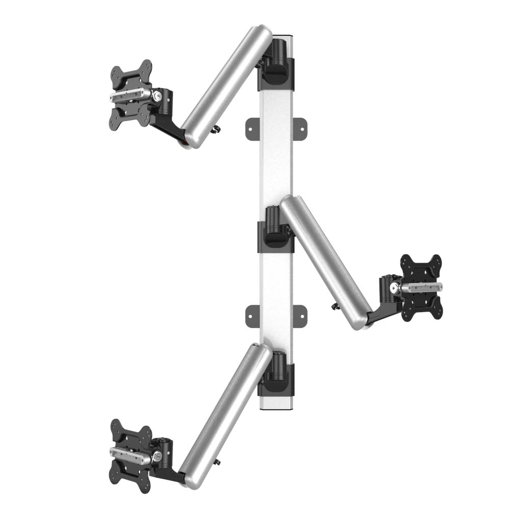 Triple Monitor Wall Mount for Apple Height Adjustable w