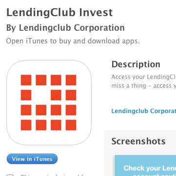 New iOS App For Lending Club Investors
