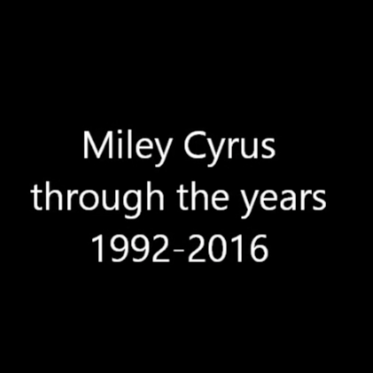 Miley Cyrus Through The Years (1992-2016)