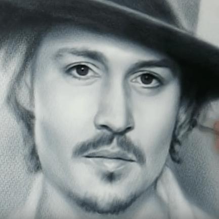 Johnny Depp Speed Drawing by Igor Kazarin