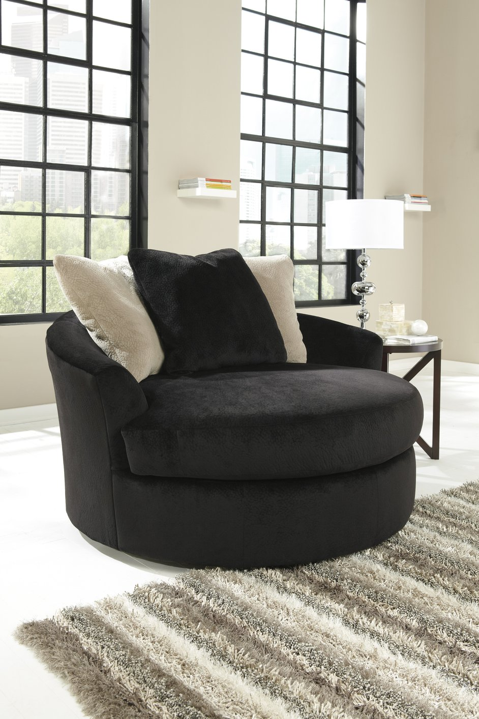 Add style and beauty to your living area with a black