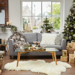 Cover For Dual Reclining Sofa Traditional Sleepers How To Style Your With Christmas Decorations This ...