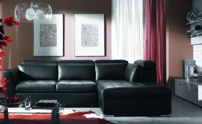 Black Leather Sofas For Small Spaces A Sign Of Elegance