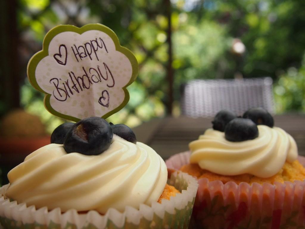 Blaubeer Creamcheese Cupcakes
