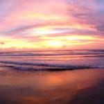 Magnifique coucher de soleil à La Plancha à Seminyak