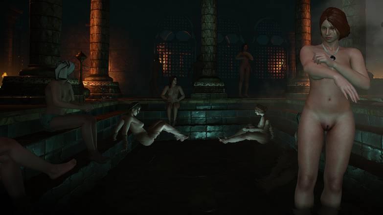 """Les femmes nues des bains publiques dans """"En quête du Petit Bâtard"""""""