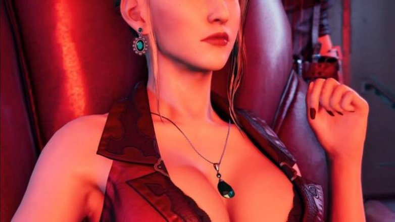 Les gros seins de Scarlet de FF7 Remake