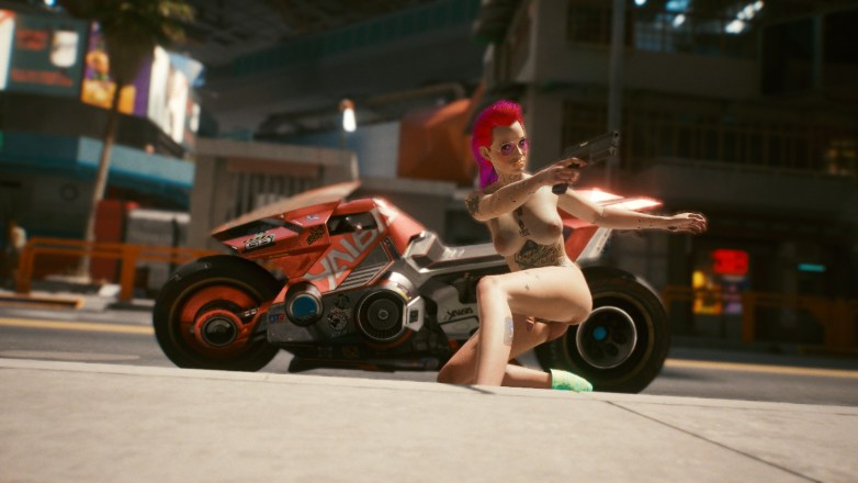 Nude screenshots Cyberpunk 2077 02