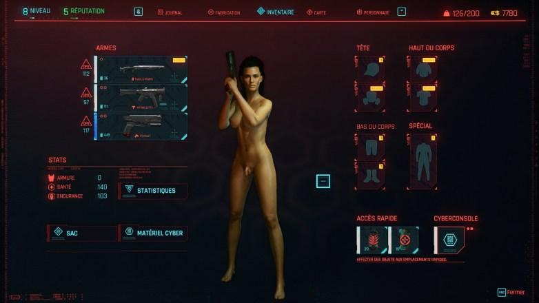 Personnalisation du personnage Cyberpunk 2077 01