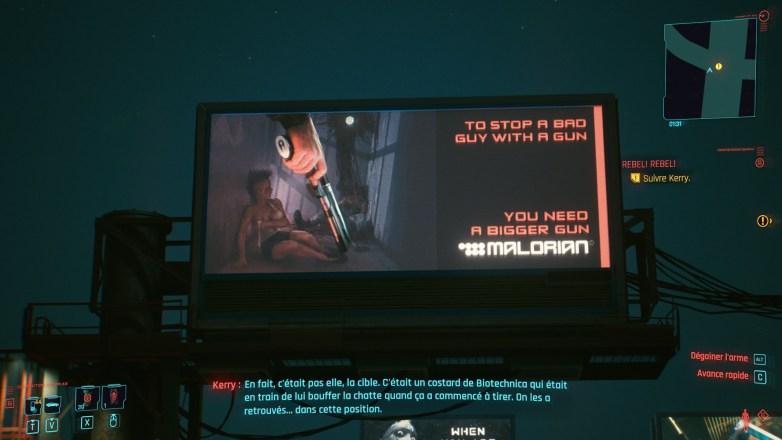 Pub Malorian Cyberpunk 2077