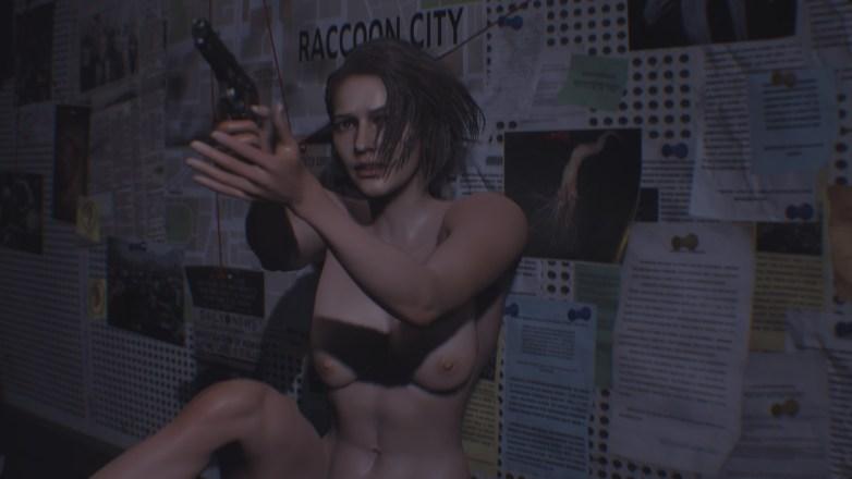 Jill Valentine nue dans Resident Evil 3 Remake 011