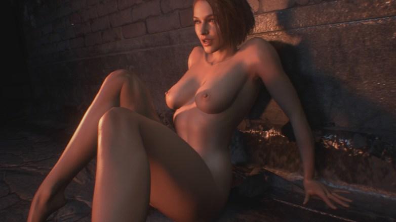 Jill Valentine nue dans Resident Evil 3 Remake 032
