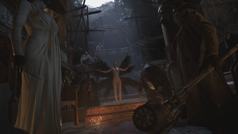 Mère Miranda nue dans Resident Evil Village