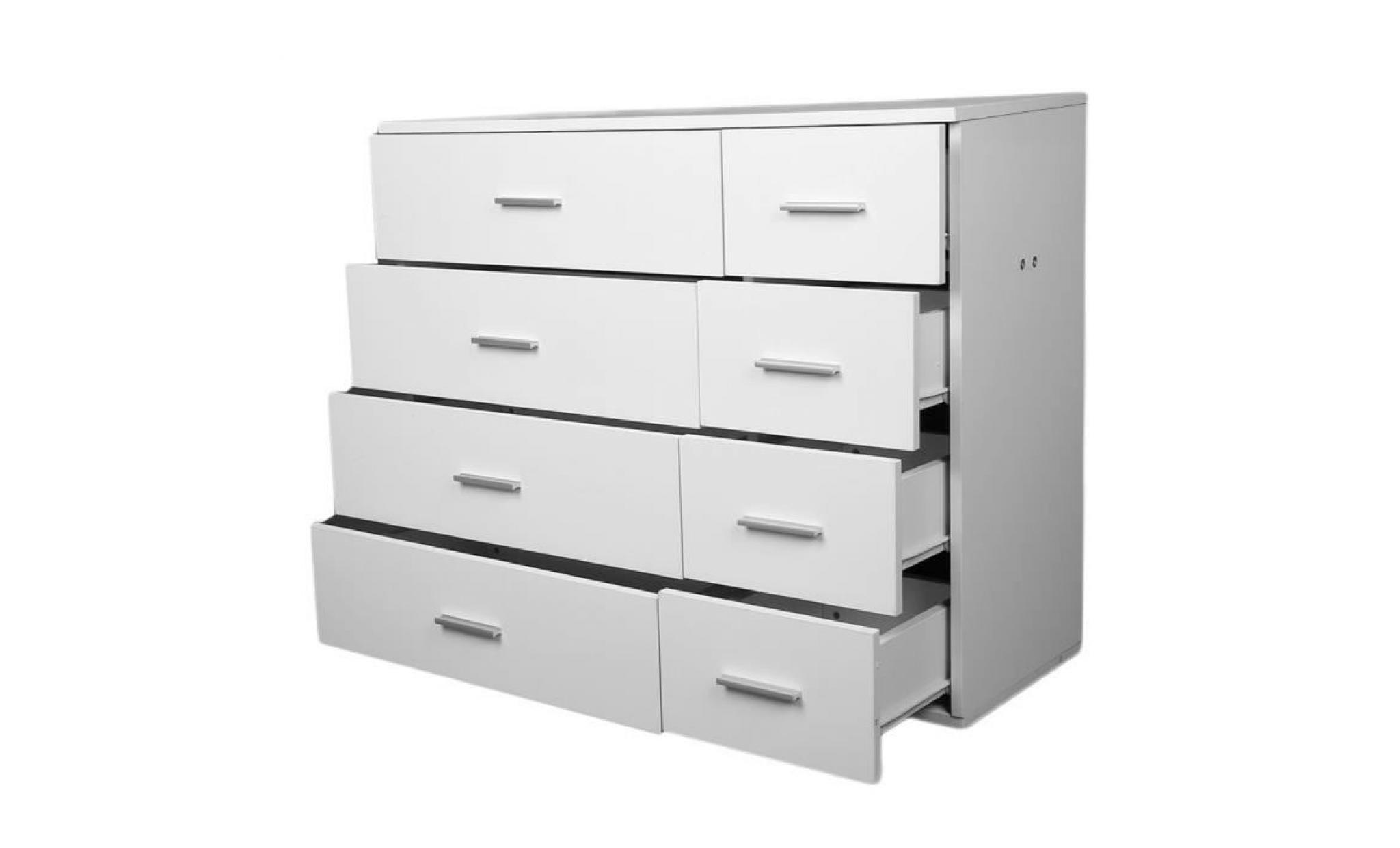 8 tiroirs de armoire de chambre 89x35x73 5cm design moderne blanche diy stockage en bois achat vente armoire pas cher couleur et design fr